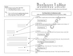Parts Of A Business Letter Quiz The Letter Sample