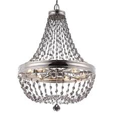 picture of 12 light malia chandelier chandelier crystals polished nickel metal crystal dining room