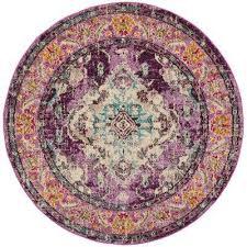 monaco violet light blue 7 ft x 7 ft round area rug