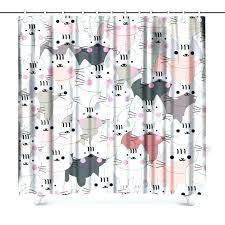 shower curtains and accessories cute shower curtains cute baby cat pink grey kitty kitten cartoon