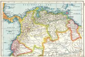 South America North Colombia Venezuela Ecuador British Guiana Panama 1920 Map
