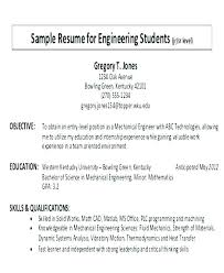 Objective Resume Example For Students Good Objectives For Resumes For Students Sample Resume Objective