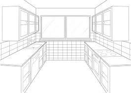 kitchen drawing perspective. Beautiful Kitchen Kitchen Perspective Drawing  One Point Perspective Kitchen Inside Drawing Pinterest