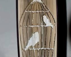 book folding pattern birdcage cut and fold 150 folds pattern only bird folded book
