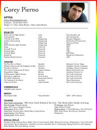 Examples Of Acting Resumes Valid Resume Templates Excellent Headshot