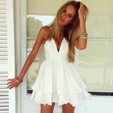 Sexy white womens clothes