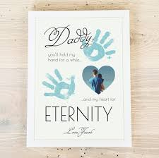 daddy hand print personalised poster