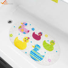 2018 39cmx69cm baby bath mat anti slip pvc cartoon bathmats tub mat with suction cup toddler ducks bathtub from periwinkle 20 68 dhgate com