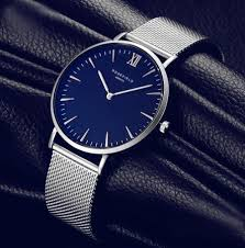 men watches top brand luxury stainless steel mesh band blue watch dial window material type glass water resistance depth 3bar movement quartz dial diameter 40mm clasp type buckle gender men style fashion casual
