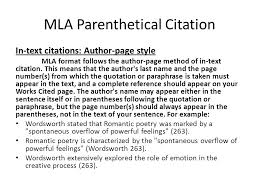 parenthetical citation in mla format mla works cited a book with one author lastname firstname title of