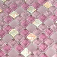 mosaic tiles glass marble pink mix 15x15x8mm