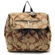 Coach Classic In Signature Medium Khaki Backpacks AOU