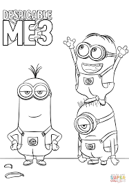 Small Picture Despicable Me 3 Minions coloring page Free Printable Coloring Pages