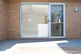 sliding door outside bath 3 panel alfresco stacker door