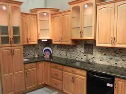 Maple Finish Kitchen Cabinets Beige Wall Painting Elegant Black Painted Finish Cabinets Chic