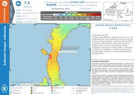 Overall Red Earthquake Alert In Indonesia On 28 Sep 2018 10