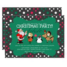 Christmas Birthday Party Invitations Kids Christmas Invitations Zazzle