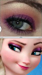 elsa makeup from disney frozen i like it might actually look good since i ve got blue eyes