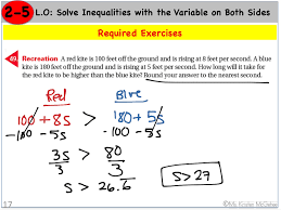 inequalities with the variable on both sides word problem 3 math showme