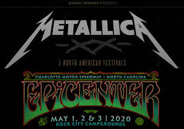 Metallica Iowa Speedway Seating Chart Metallica To Play Two Sets At Epicenter Festival At