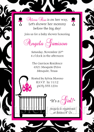 Elegant White Black Hot Pink Damask Baby Shower Invitation ...