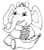 Small Picture Cute Baby Elephant coloring page Free Printable Coloring Pages