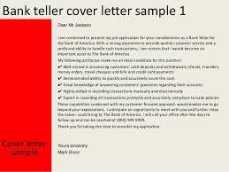 Bank Teller Cover Letter Sample Best Cover Letter For Bank Teller