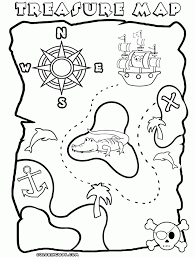 Small Picture Treasure Map Coloring Pages For Kids Ccoloringsheetscom