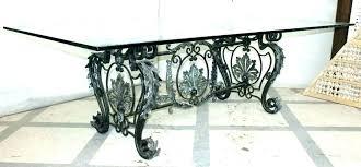 black iron table base wrought iron table bases round iron table wrought iron tables fine design