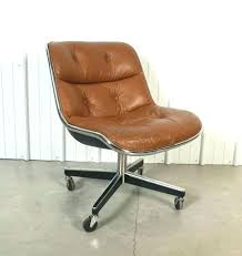 mid century office chair. Danish Modern Office Furniture Mid Century Leather Desk Chair No Wheels With Knoll By Throughout Rollin M