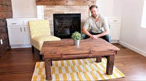 To give the coffee table some interest i decided to try my hand at some tapered, angled legs. The 30 Farmhouse Coffee Table Easy Diy Project Youtube