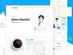 Freebies Online Resume Website Psd Template By Victorthemes