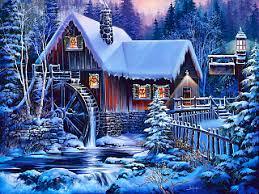 320x240 besplatne slike za mobitele: Božićni praznici na selu