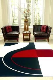black and red area rugs dark rug amazing modern white pile cut design fl
