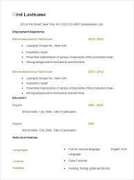 Easy Resume Templates Free Extraordinary Easy Resume Templates Pelosleclaire