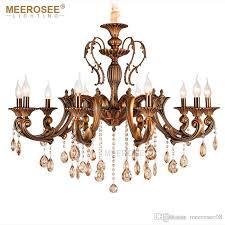 vintage crystal chandelier lighting fixture for dining room foyer brass res de cristal luxury pendant lamp indoor lighting chandelier lift pineapple