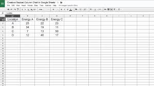 Google Sheets Create A Stacked Column Chart
