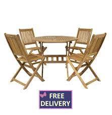 4 seat wooden garden furniture set