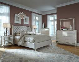 hollywood loft upholstered bedroom set in pearl by michael amini jane seymour aico you