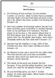 6th Grade Math Word Problems Worksheet : Kelpies