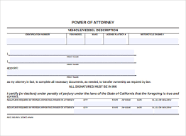 blank power of attorney blank power of attorney form 7 free samples examples format
