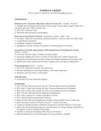 Day Care Resume Daycare Resume Objective Child Care Resume Samples Responsibilities