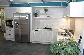 Nobilia   Cottage Nautic Pine L   Küche Mit Side By Side Kühlschrank In  Moderner Holzoptik