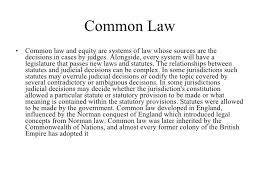 the legal systems of the world common law