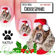 Cocker Spaniel with Santa Hat Nail Art (NOW 50% MORE FREE) – Patch ...