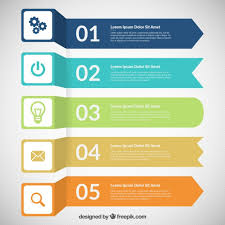 Download Free Infographics Colored Banners Infographic Vector Free
