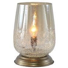 metallic smoke bordeaux handblown glass table lamp