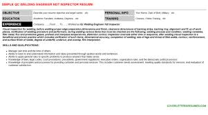 Ndt Inspector Resume Qc Welding Engineer Ndt Inspector Job Letter Resume