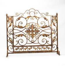 most seen ideas featured in decorative yet protective wrought iron fireplace screen design