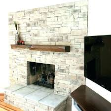 stacked stone fireplace cost stacked stone fireplace